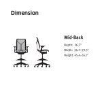 Cosm Midback Stool – Dimension